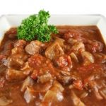 Фото для рецепта: Гуляш из говядины с подливкой