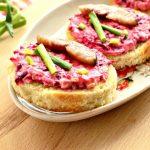 Фото для рецепта: Бутерброды праздничные со свеклой и селедкой