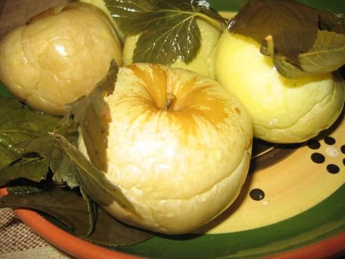 Фото для рецепта: Моченые яблоки с патиссонами