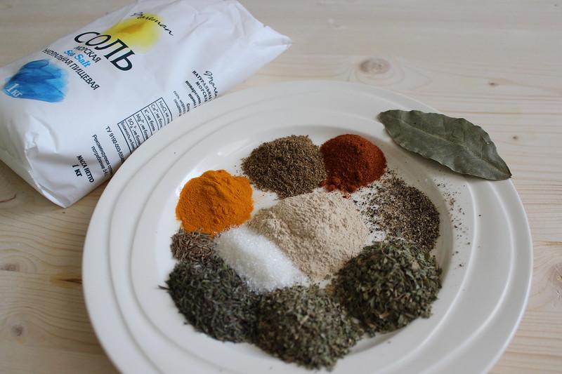 Фото для рецепта: Соль с чесноком и травами
