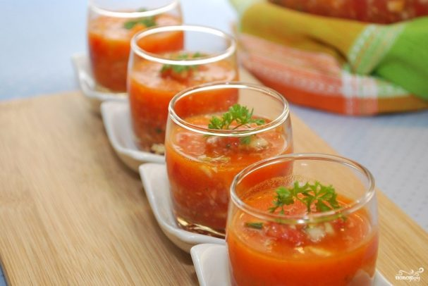 Фото для рецепта: Гаспачо из помидоров