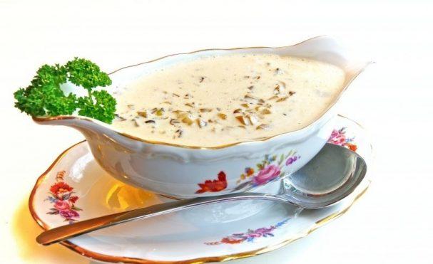 Фото для рецепта: Грибной соус с сыром