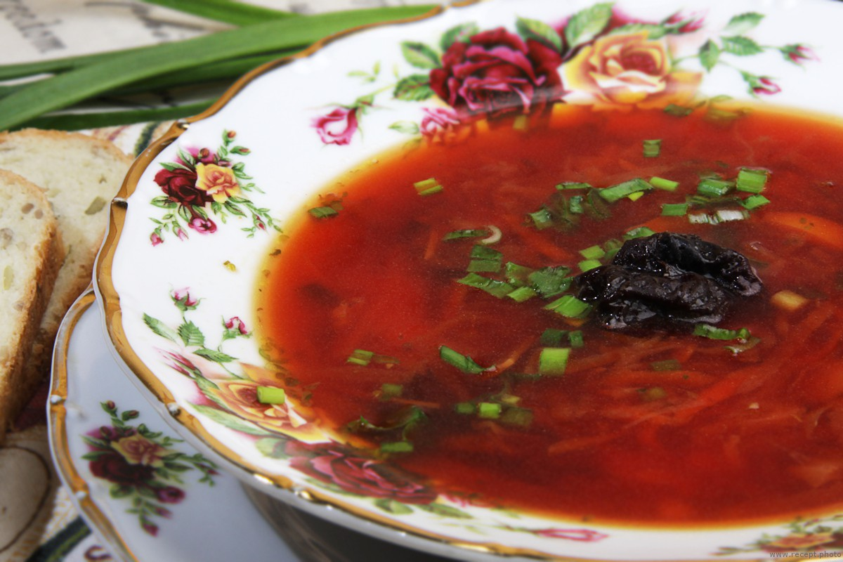 Фото для рецепта: Постный борщ с грибами