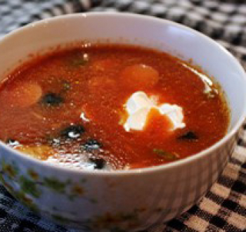 Фото для рецепта: Мясная солянка в мультиварке