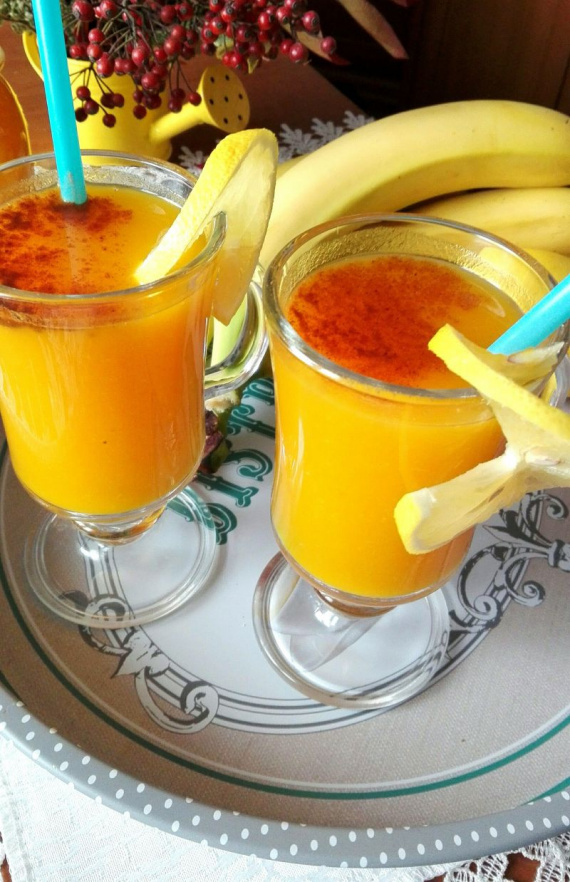 Фото для рецепта: Сладкий коктейль из тыквы